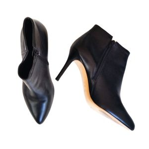 Coach Dean Black Leather Stiletto Ankle Bootie